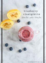 Blueberry Vinaigrette Recipe Healthy Gluten Free Dairy Free Paleo | ahealthylifeforme.com