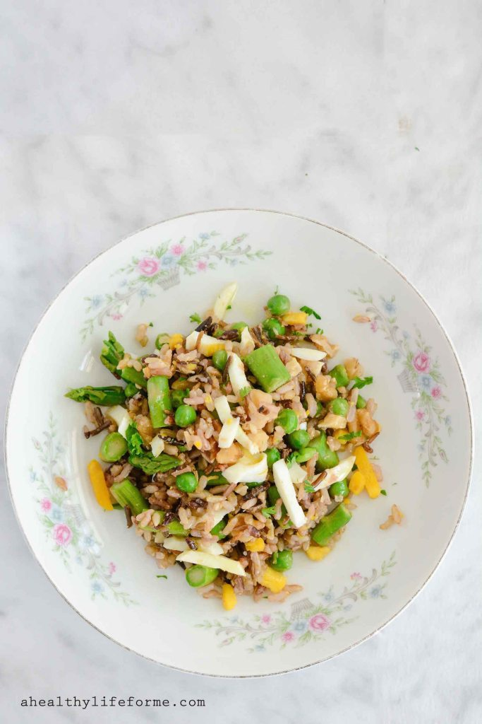 Spring Rice Salad Dairy Free Gluten Free Recipe   ahealthylifeforme.com