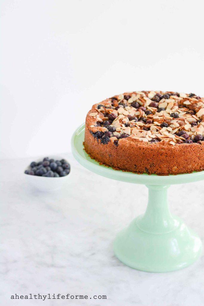 Gluten Free Blueberry Chocolate Cake   ahealhtylifeforme.com