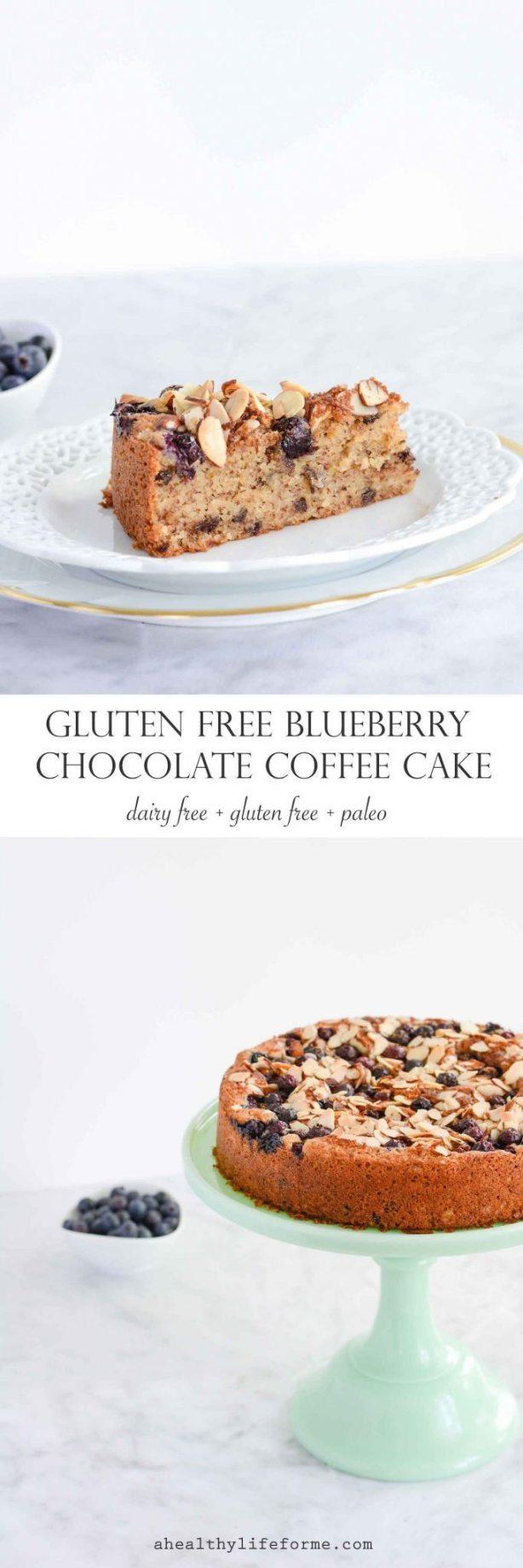 Gluten Free Blueberry Chocolate Cake | ahealhtylifeforme.com