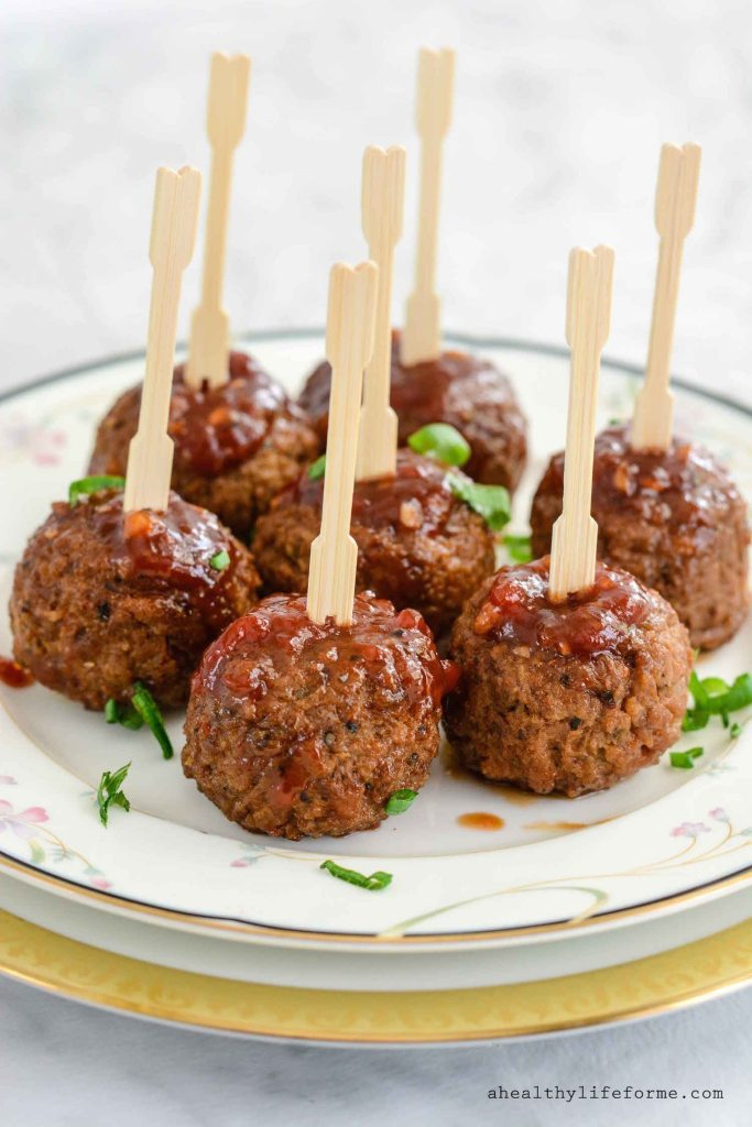 Sticky Sweet Meatballs Dairy Free and Vegan Recipe using Gardein Meatless Meatballs | ahealthylifeforme.com
