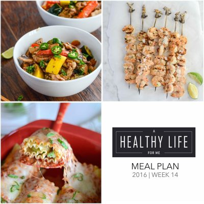 Weekly Meal Plan Week 14