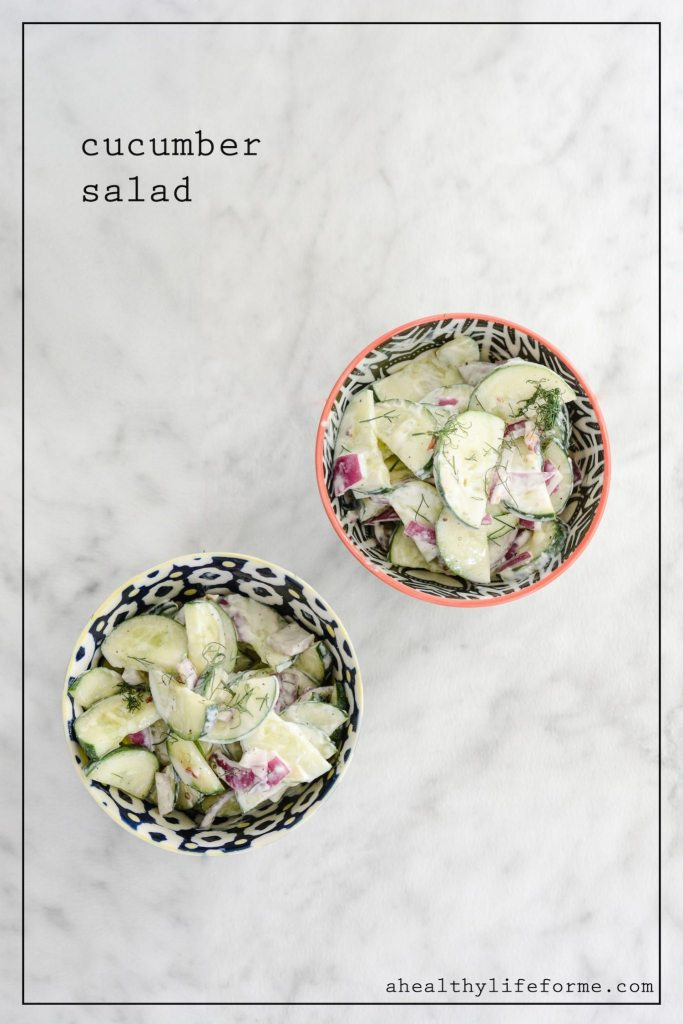 Cucumber Salad Recipe   ahealthylifeforme.com