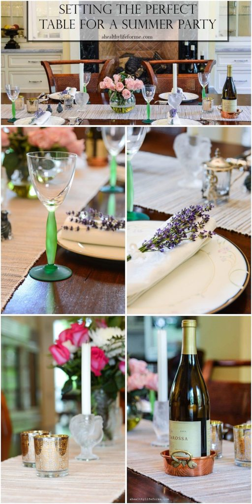 Setting the Perfect Table for Summer Dinner Party with bHome | ahealthylifeforme.com