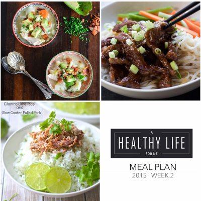 Weekly Meal Plan Week 2