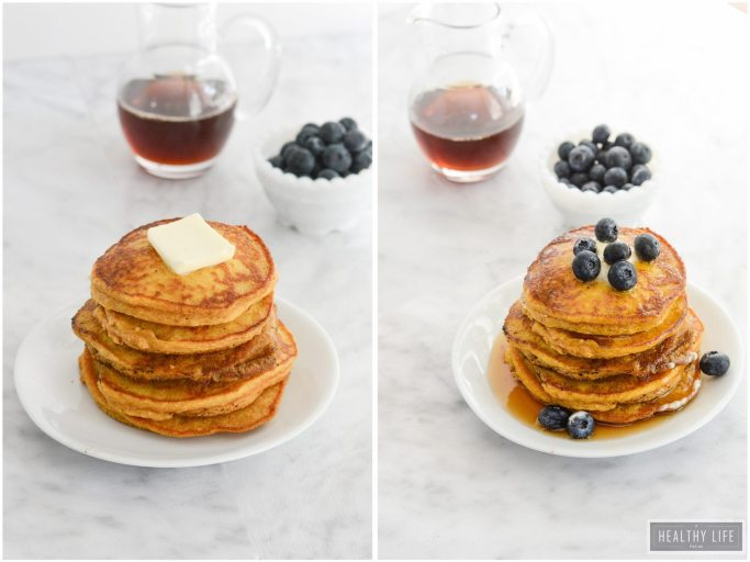 Paleo Pumpkin Spice Pancakes are the perfect stack of breakfast cakes with a taste of fall   ahealthylifeforme.com