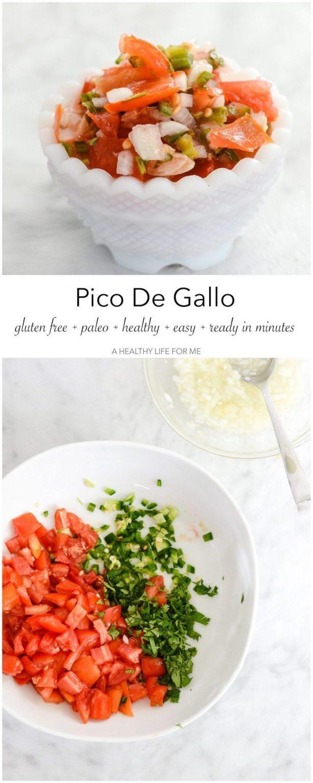 Pico De Gallo salsa recipe using fresh ingredients | ahealthylifeforme.com