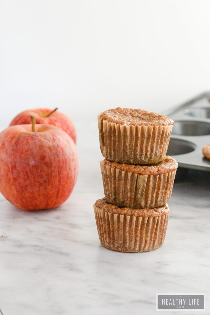 Apple Pie Protein Muffins are delicious healthy gluten free way to start of your day | ahealthylifeforme.com