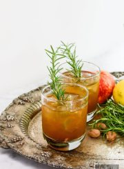Bourbon Bomber Cocktail is the perfect toast to fall | ahealthylifeforme.com