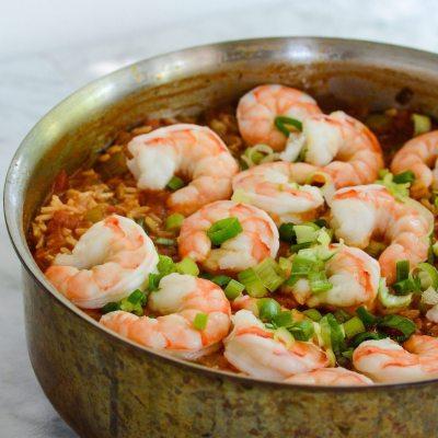 Shrimp Jambalaya {gluten free + dairy free}