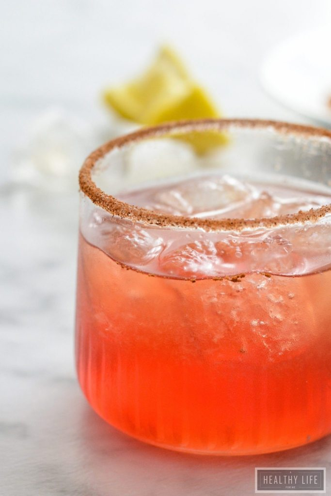 Amaretto Cranberry Spice Cocktail is a warm delicious spicy sweet cocktail recipe   ahealthylifeforme.com