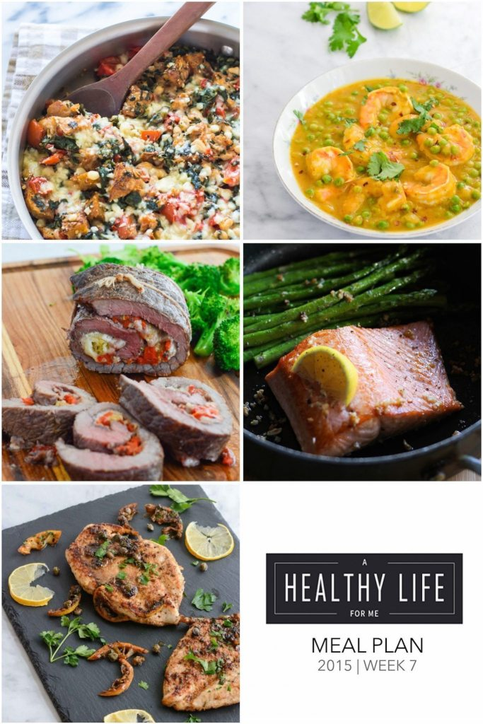 Weekly Meal Plan healthy recipes with shopping list   ahealthylifeforme.com