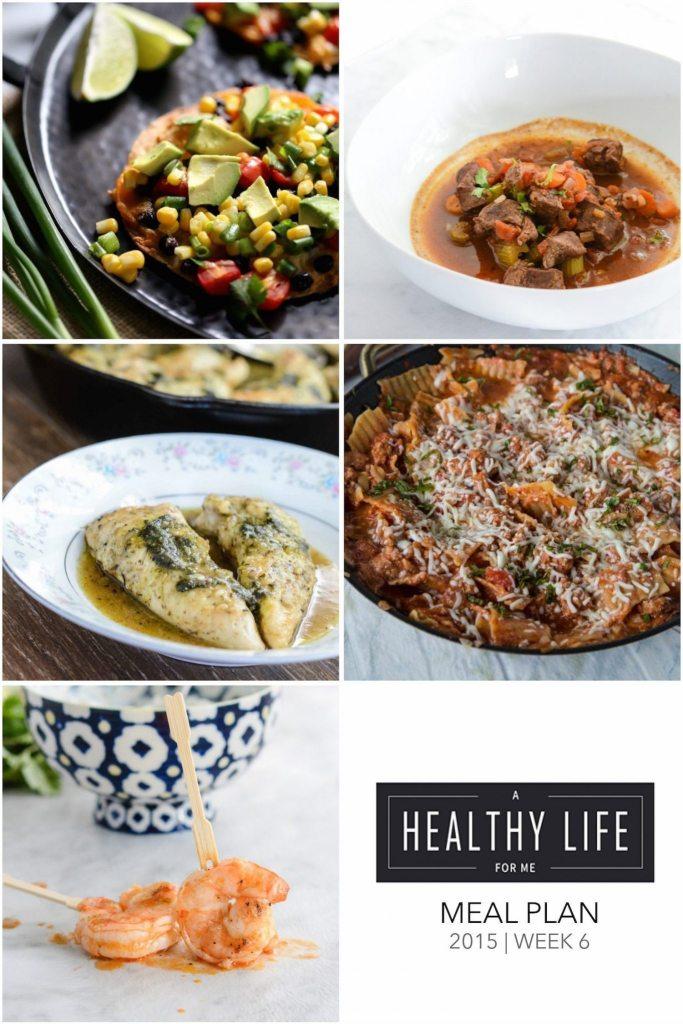 Healthy Weekly Meal Plan Week 6   ahealthylifeforme.com