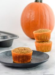 Pumpkin Spice Protein Muffins are filled fabulous pumpkin flavor, fiber, potassium and tons of protein | ahealthylifeforme.com