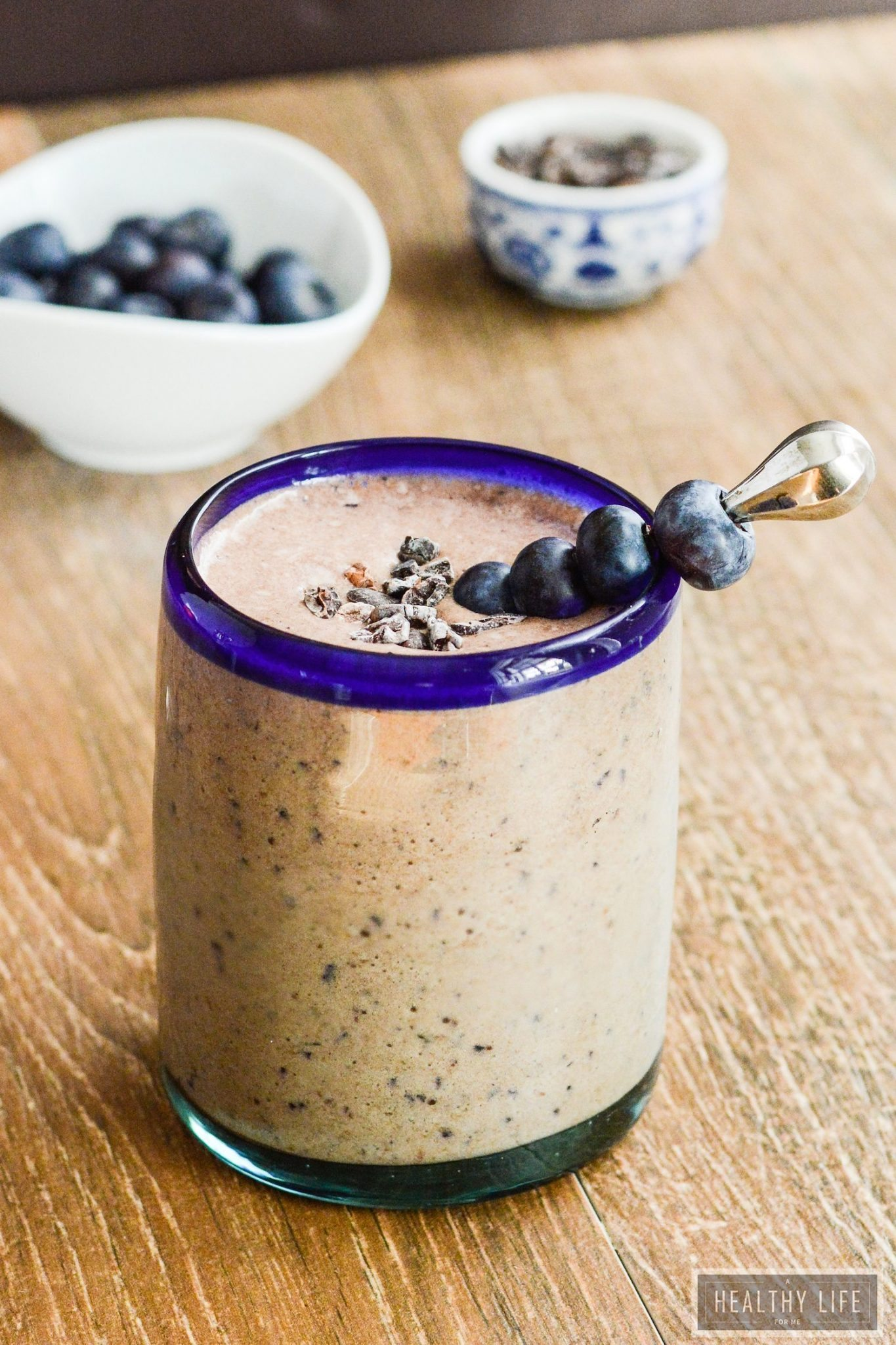 Double Chocolate Blueberry Protein Smoothie - A Healthy Life For Me
