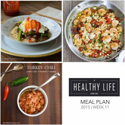 Weekly Meal Plan Week 11