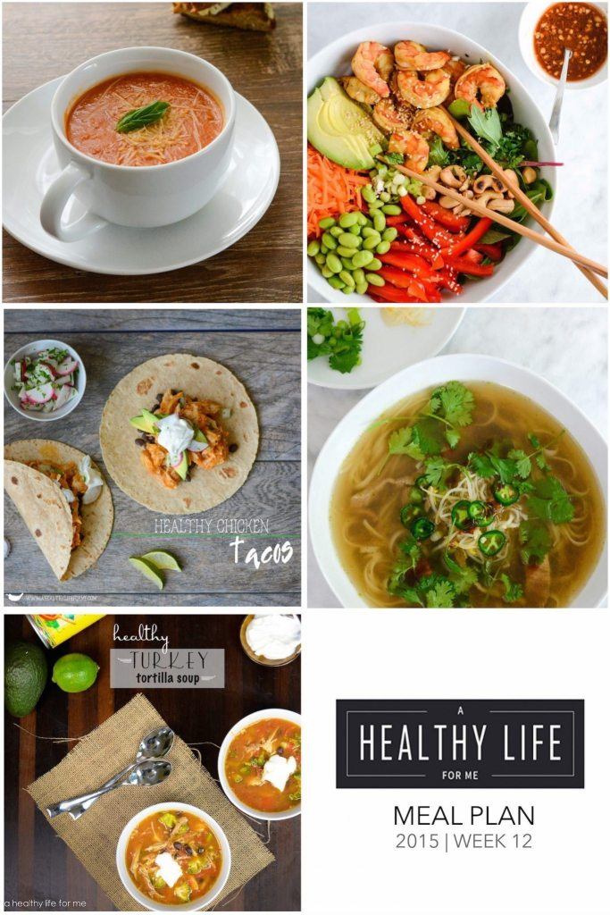 Weekly Meal Plan WEek 12 Thanksgiving | ahealthylifeforme.com