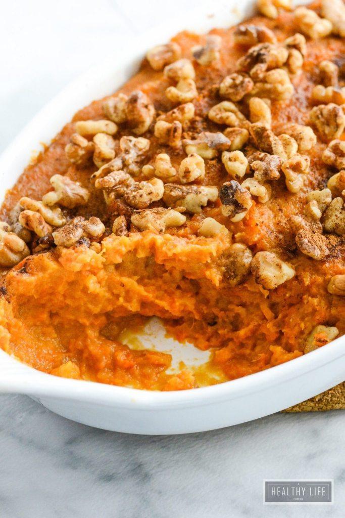 Paleo Molasses Sweet Potato Casserole Recipe Gluten Free | ahealthylifeforme.com
