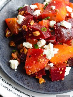 Roasted Beets Pistachio and Goat Cheese Salad