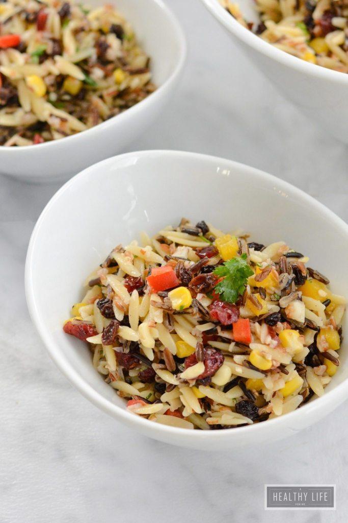 Wild Rice Orzo Cranberry Salad Recipe | ahealthylifeforme.com