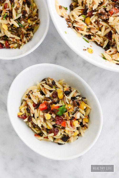 Wild Rice Orzo Cranberry Salad Recipe   ahealthylifeforme.com
