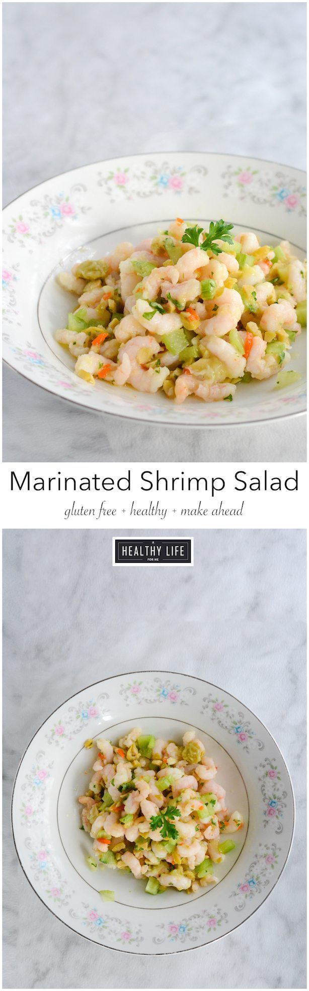 Marinated Shrimp Salad is easy make ahead healthy gluten free and paleo recipe   ahealthylifeforme.com