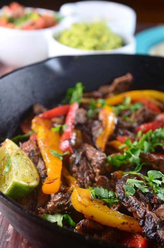 Steak Fajitas via Life Ambrosia