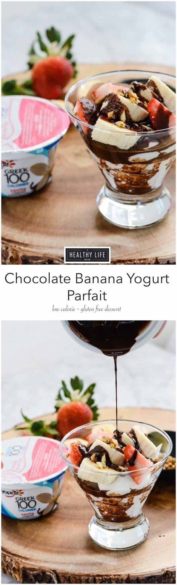 Chocolate Banana Yogurt Parfait_