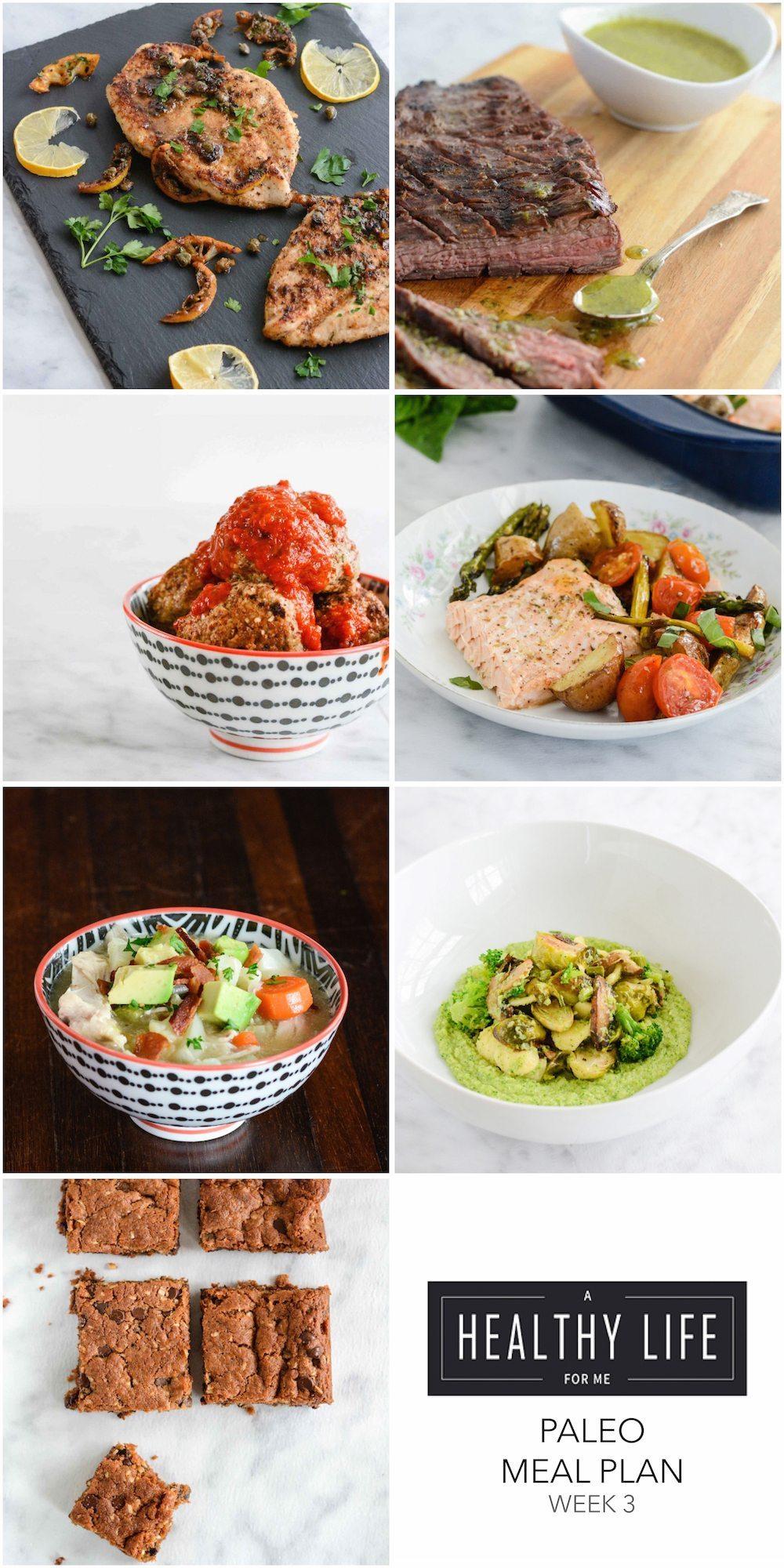 Paleo Meal Plan Week 2 Gluten Free and Paleo Recipes | ahelathylifeforme.com