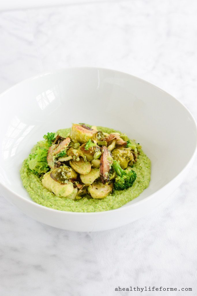 Roasted Vegetable with Broccoli Puree Paleo Recipe | ahealthylifeforme.com