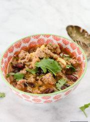 Turkey Sweet Potato Chili gluten free recipe   ahealthylifeforme.com