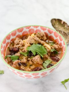 Turkey Sweet Potato Chili gluten free recipe | ahealthylifeforme.com