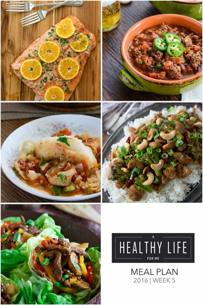 Meal Plan Week 5 | ahealthylifeforme.com