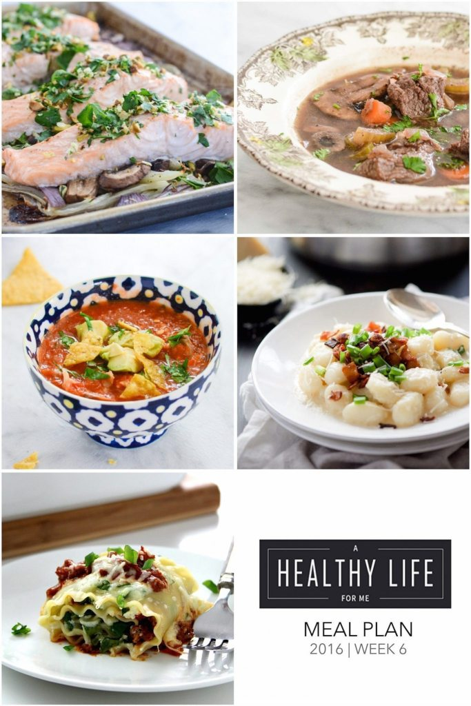 Weekly Meal Plan Week 6 | ahealthylifeforme.com