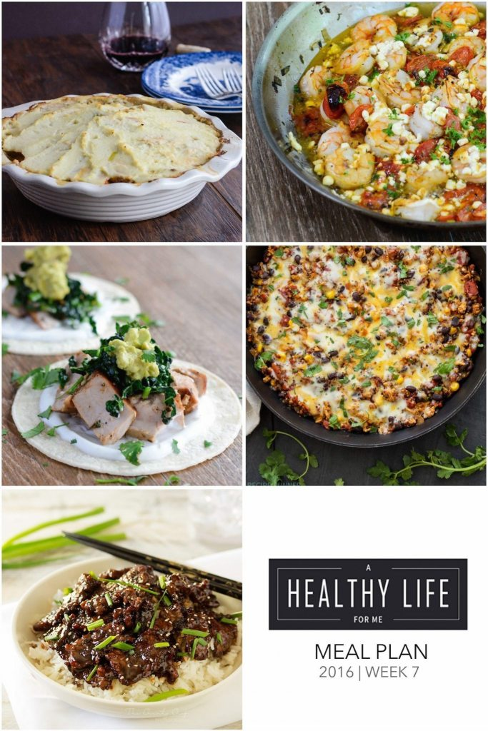 Weekly Meal Plan Week 7 | ahealthylifeforme.com