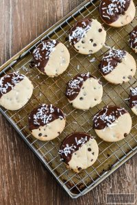 Paleo and Gluten Free Double Chocolate Coconut Shortbread Cookie Recipe | ahealthylifeforme.com