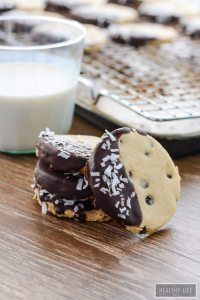 Paleo and Gluten Free Double Chocolate Coconut Shortbread Cookie Recipe   ahealthylifeforme.com