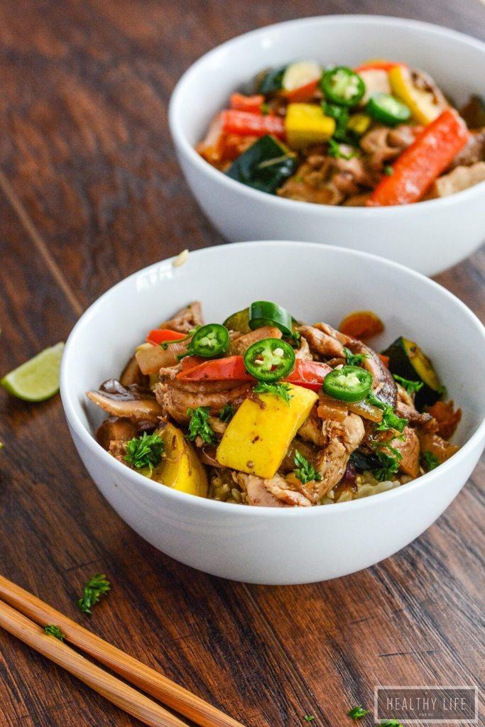 Healthy Chicken Stir fry Paleo Gluten Free Recipe-3
