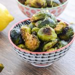 Superfood Spicy Roasted Brussels Sprouts Recipe that is healthy gluten free paleo and whole 30 | ahealthylifeforme.com