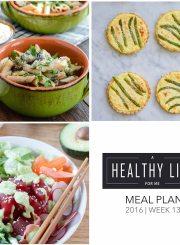 Weekly Meal Plan Week 13 | ahealthylifeforme.com