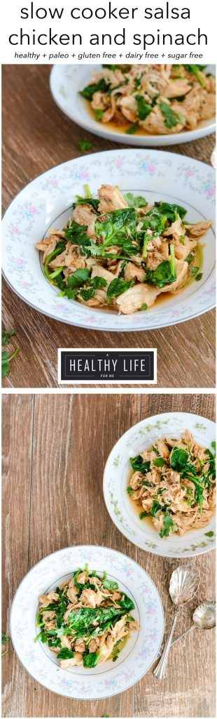 Healthy and low calorie slow cooker salsa chicken and spinach is gluten free paleo recipe   ahealthylifeforme.com