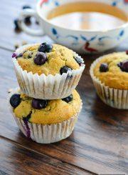 Blueberry Granola Breakfast Muffins Gluten Free Dairy Free Recipe | ahealthylifeforme.com