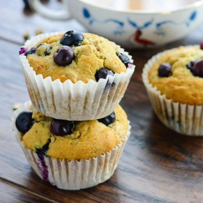 Blueberry Granola Breakfast Muffins {Gluten Free}