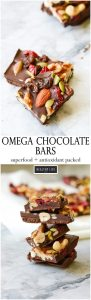 These Omega Chocolate Bars are the perfect healthy chocolate pick me up. Loaded with Omega-3 nutrients and tons of antioxidants this is a candy bar you can feel good about eating and enjoying | ahealthylifeforme.com