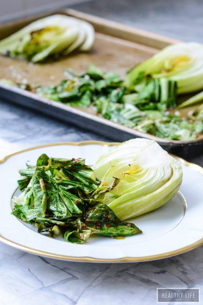 Roasted Bok Choy Healthy Side Dish Reciope | ahealthylifeforme.com