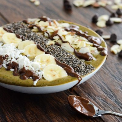 Mocha Banana Superfood Smoothie Bowl {Gluten Free}