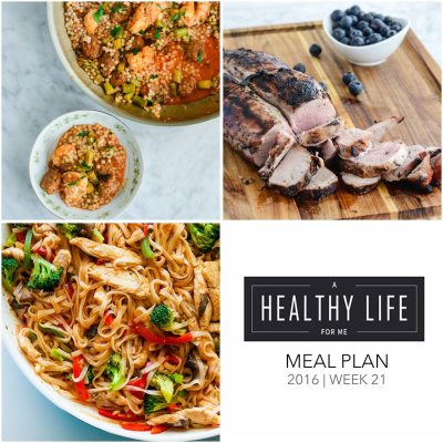 Weekly Meal Plan Week 21
