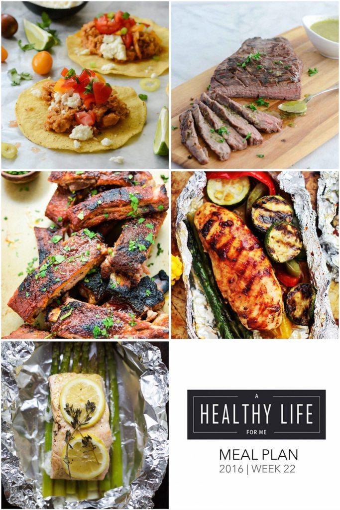 Weekly Meal Plan Week 22 | ahealthylifeforme.com