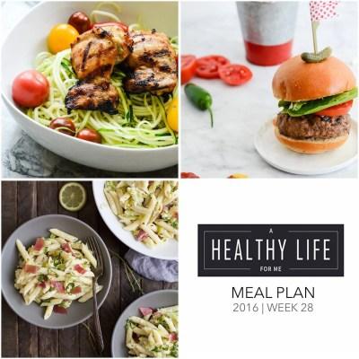 Weekly Meal Plan Week 28