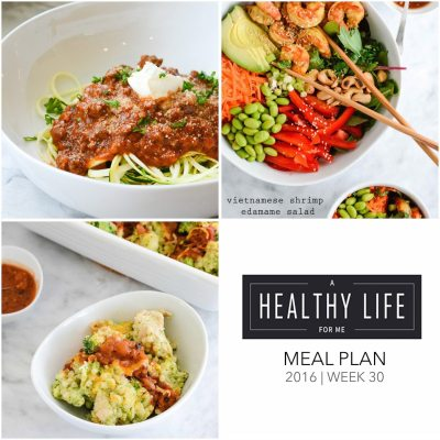 Weekly Meal Plan Week 30